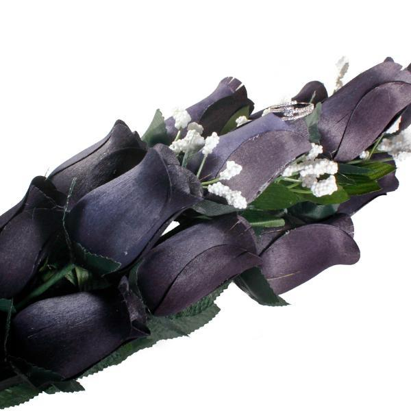 Black Bouquet | Jewelry Roses®-Black Wax Roses-The Official Website of Jewelry Candles - Find Jewelry In Candles!