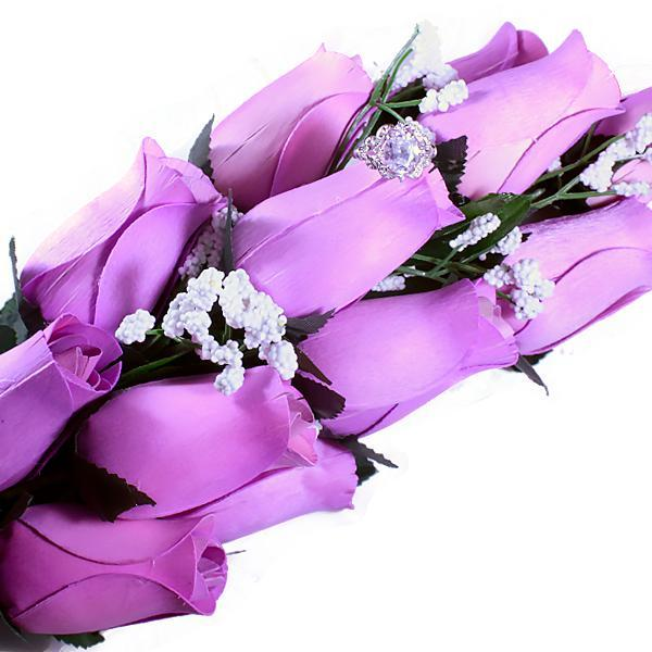 Lavender Bouquet | Jewelry Roses®-Wax Dipped Roses-The Official Website of Jewelry Candles - Find Jewelry In Candles!