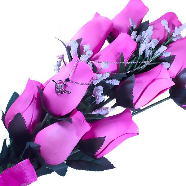 Pink Bouquet | Jewelry Roses®-Wax Dipped Roses-The Official Website of Jewelry Candles - Find Jewelry In Candles!