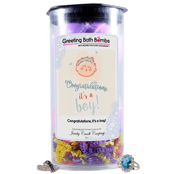 Congratulations, It's A Boy! | Greeting Bath Bombs®-Jewelry Bath Bombs-The Official Website of Jewelry Candles - Find Jewelry In Candles!