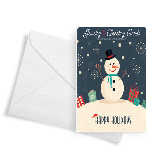 Happy Holidays (Snowman) | Jewelry Greeting Cards®-Jewelry Greeting Cards-The Official Website of Jewelry Candles - Find Jewelry In Candles!