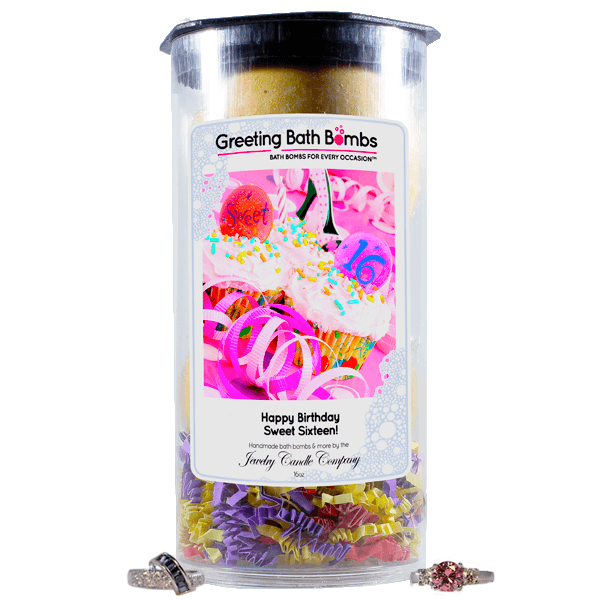 Happy Birthday Sweet 16! | Greeting Bath Bombs®-Jewelry Bath Bombs-The Official Website of Jewelry Candles - Find Jewelry In Candles!