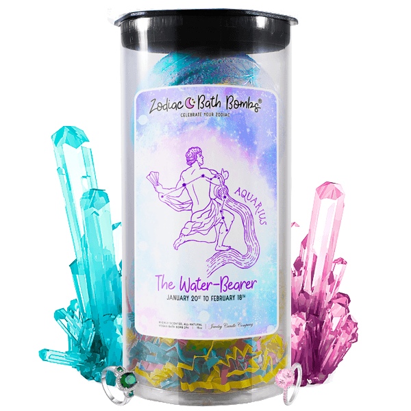 Aquarius | Jewelry Zodiac Bath Bombs-Zodiac Jewelry Bath Bombs®-The Official Website of Jewelry Candles - Find Jewelry In Candles!