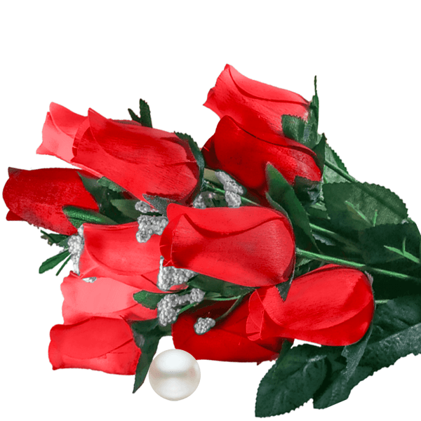 Red Bouquet Pearl Roses