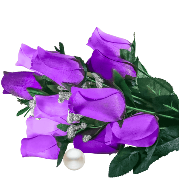 Purple Bouquet Pearl Roses