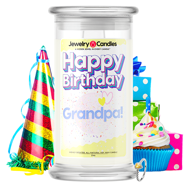 Happy Birthday Grandpa! Happy Birthday Jewelry Candle