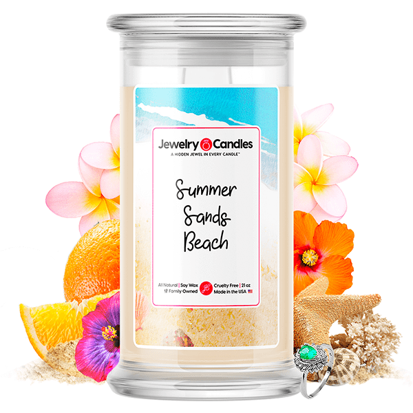 Summer Sands Beach Jewelry Candle