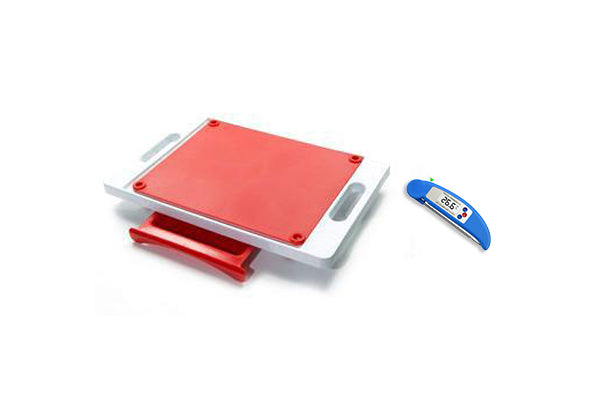 Dripless Cutting Board 2 In 1 System With Digital Meat Thermometer