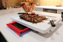 Load image into Gallery viewer, Dripless Cutting Board 2 In 1 System With Additional Insert Board and Digital Meat Thermometer