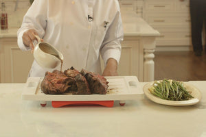 Dripless Cutting Board 2 In 1 System With Additional Insert Board and Digital Meat Thermometer