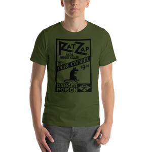 Black Design on Green Unisex Cotton T-Shirt