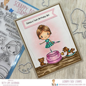 Scrappy Boy Stamps 4x6 Stamp Set - Pretty Little Things