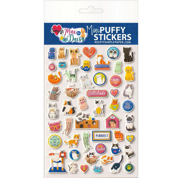 Max & Daisy Mini Puffy Stickers Kitties