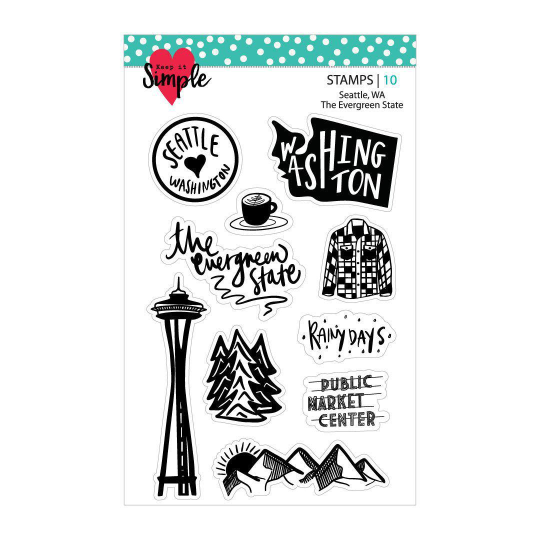 The Evergreen State: Washington 4x6 Stamp Set
