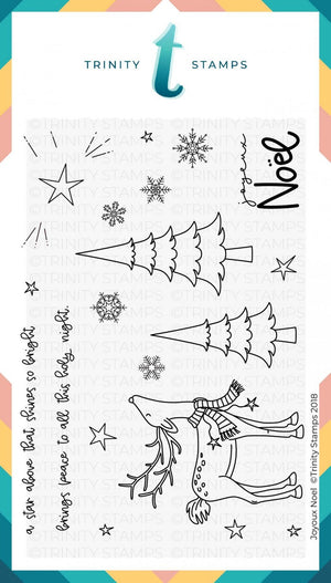 Card Swap - 30 Cards - Trinity Stamps - Joyeux Noel Slimline Kit