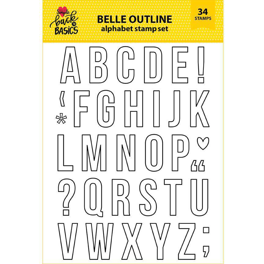 Back To Basics 6x8 Belle Outline Alphabet Stamp Set