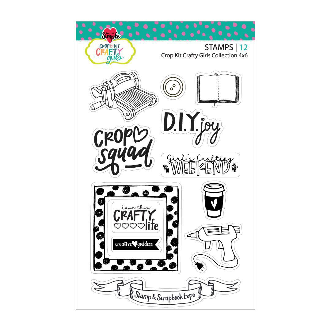 Crafty Girl 4x6 Collection Stamp