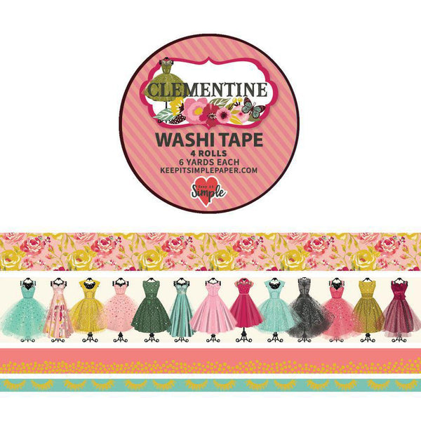Clementine Washi Tape 4 Pack