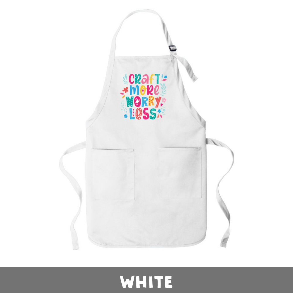 White - Apron - Craft More Worry Less