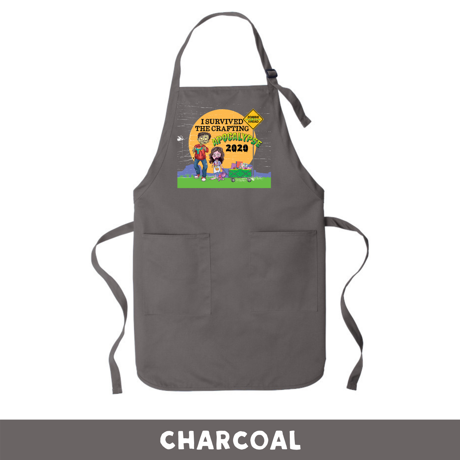 Charcoal - Apron - I Survived The 2020 Crafting Apocalypse