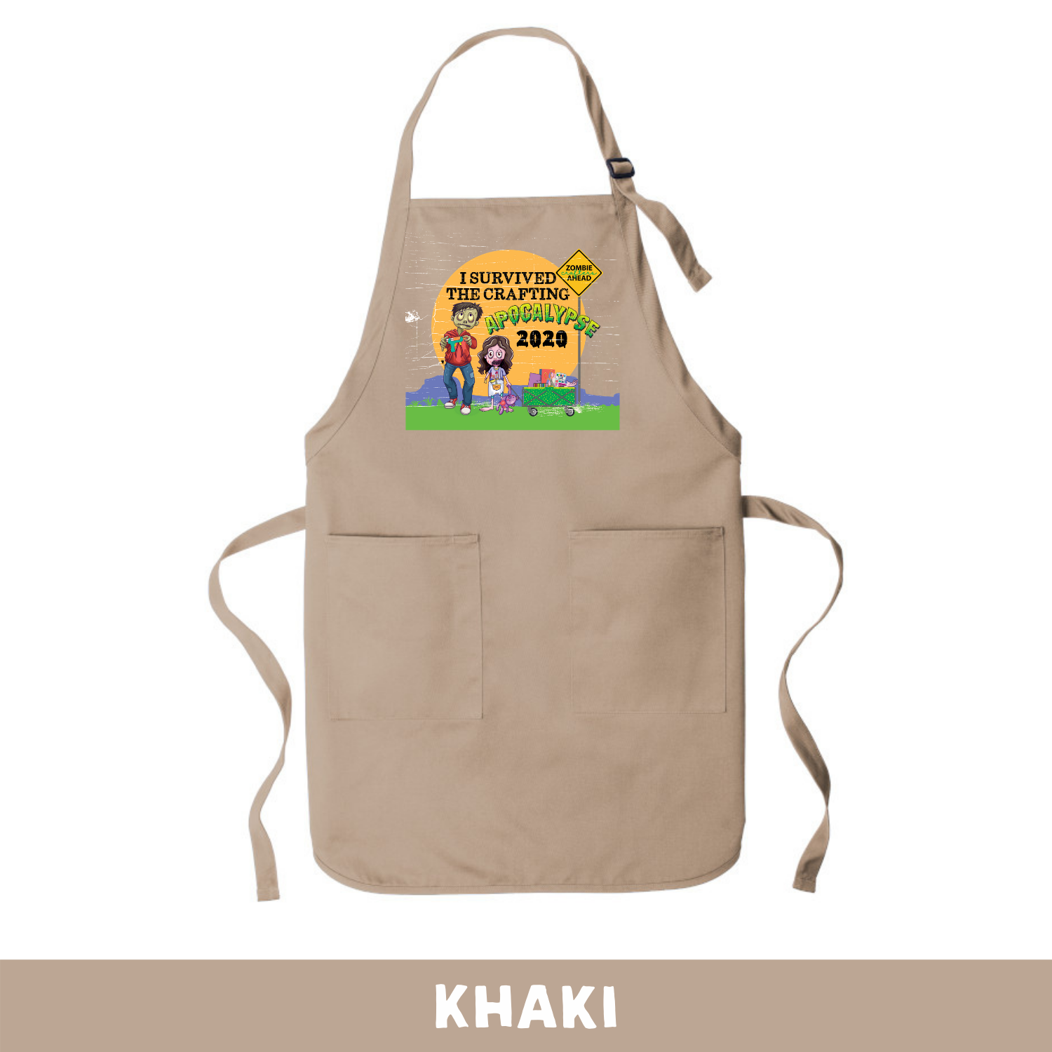 Khaki - Apron - I Survived The 2020 Crafting Apocalypse