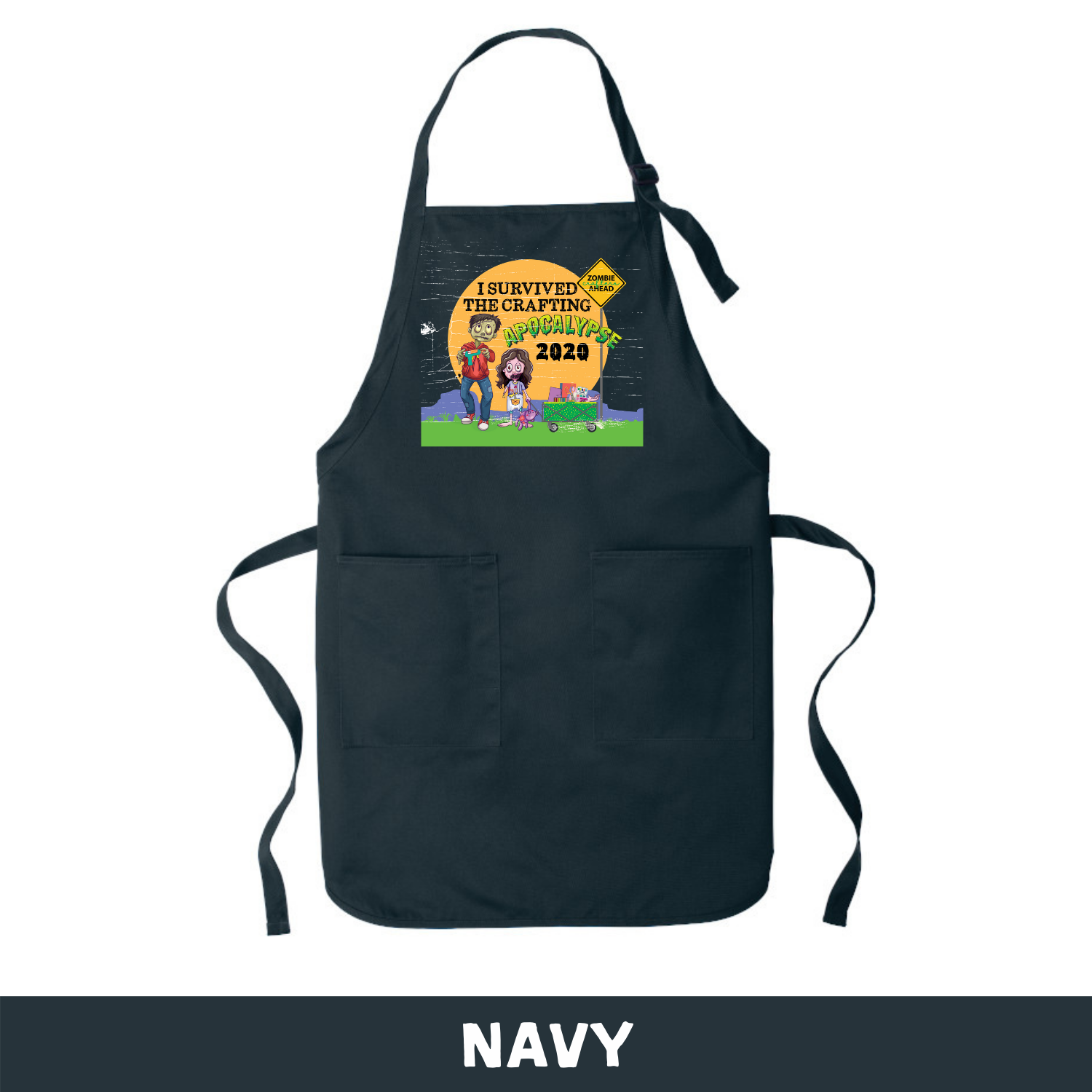 Navy - Apron - I Survived The 2020 Crafting Apocalypse