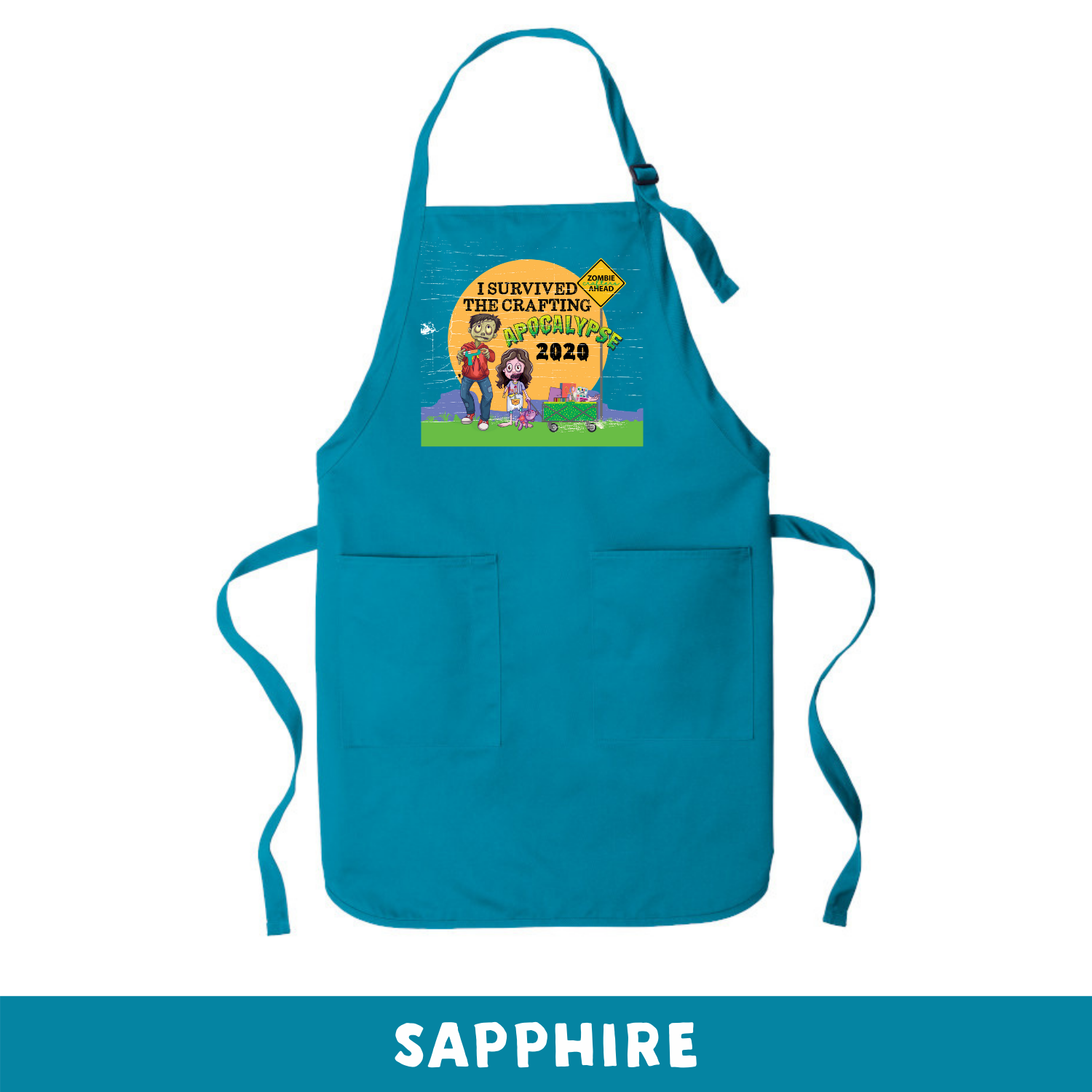Sapphire - Apron - I Survived The 2020 Crafting Apocalypse