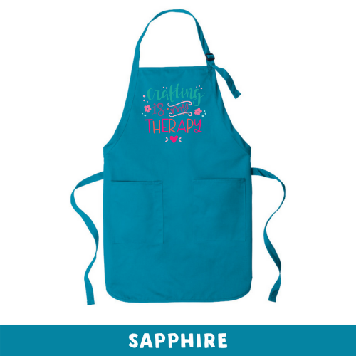 Sapphire - Apron - Crafting Is My Therapy