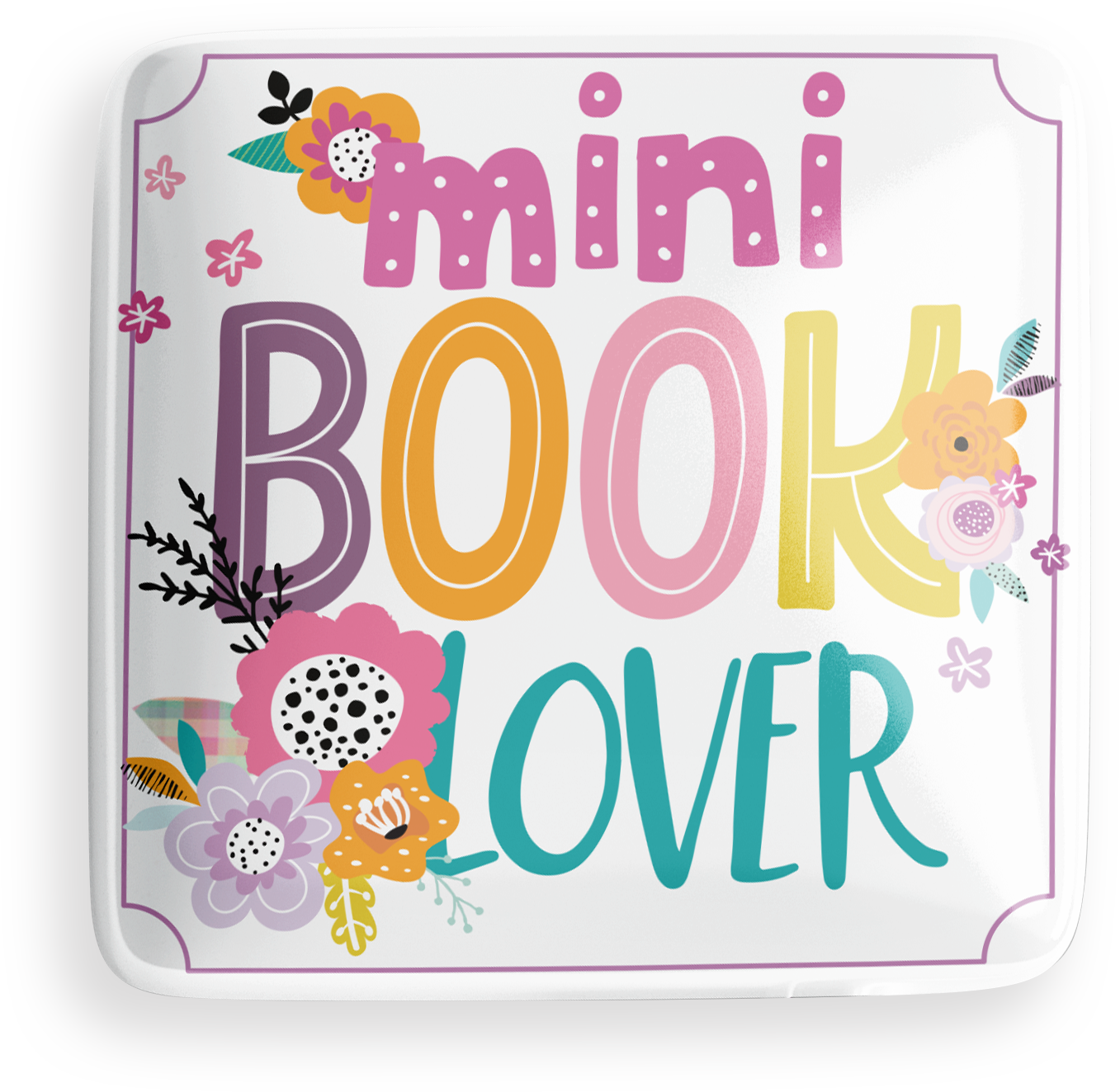 Mini Book Lover Button