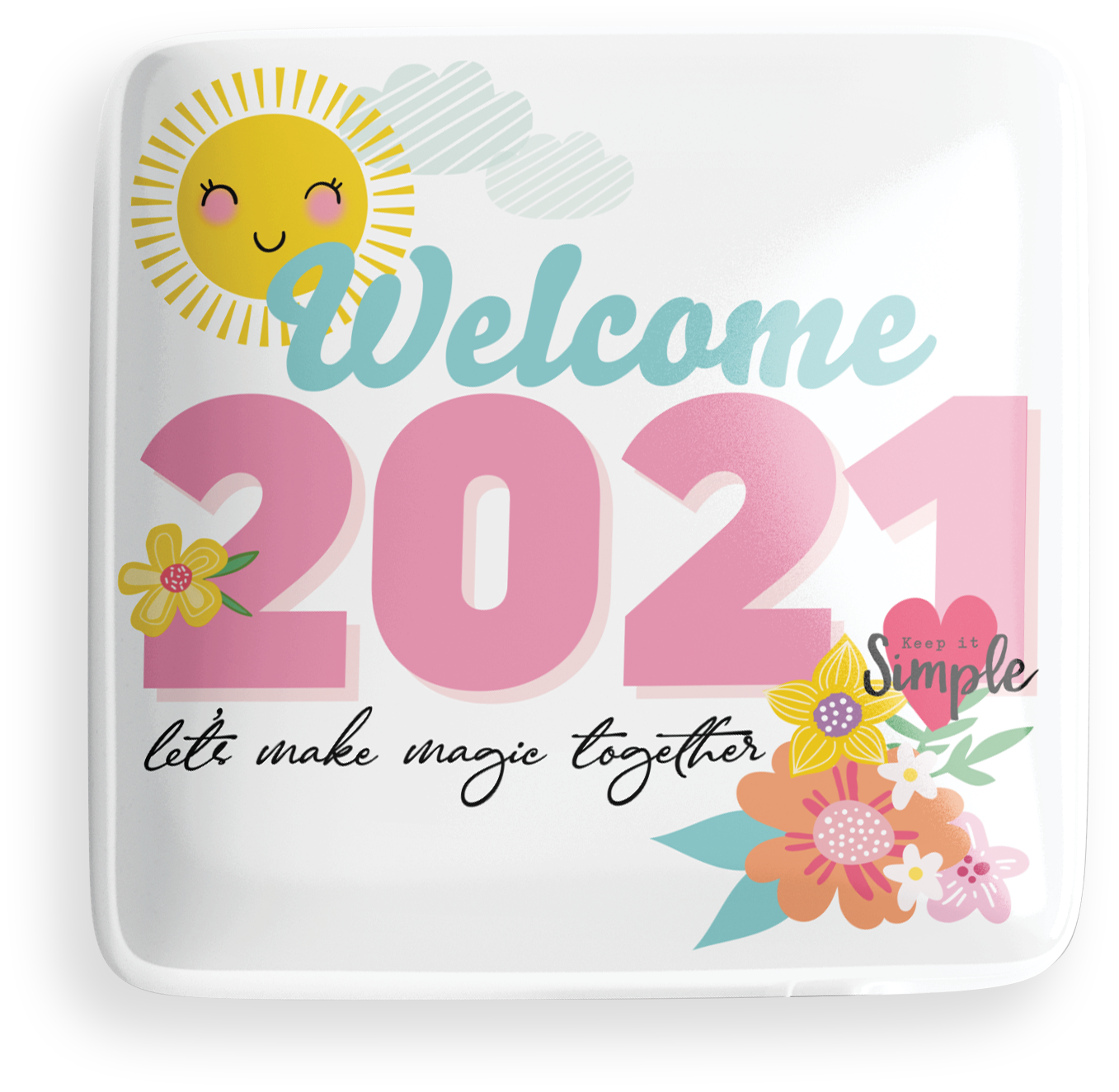 Welcome 2021 Button
