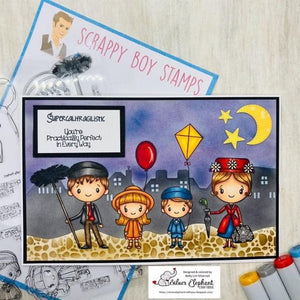 Scrappy Boy Stamps 6x8 Stamp Set - Practically Perfect