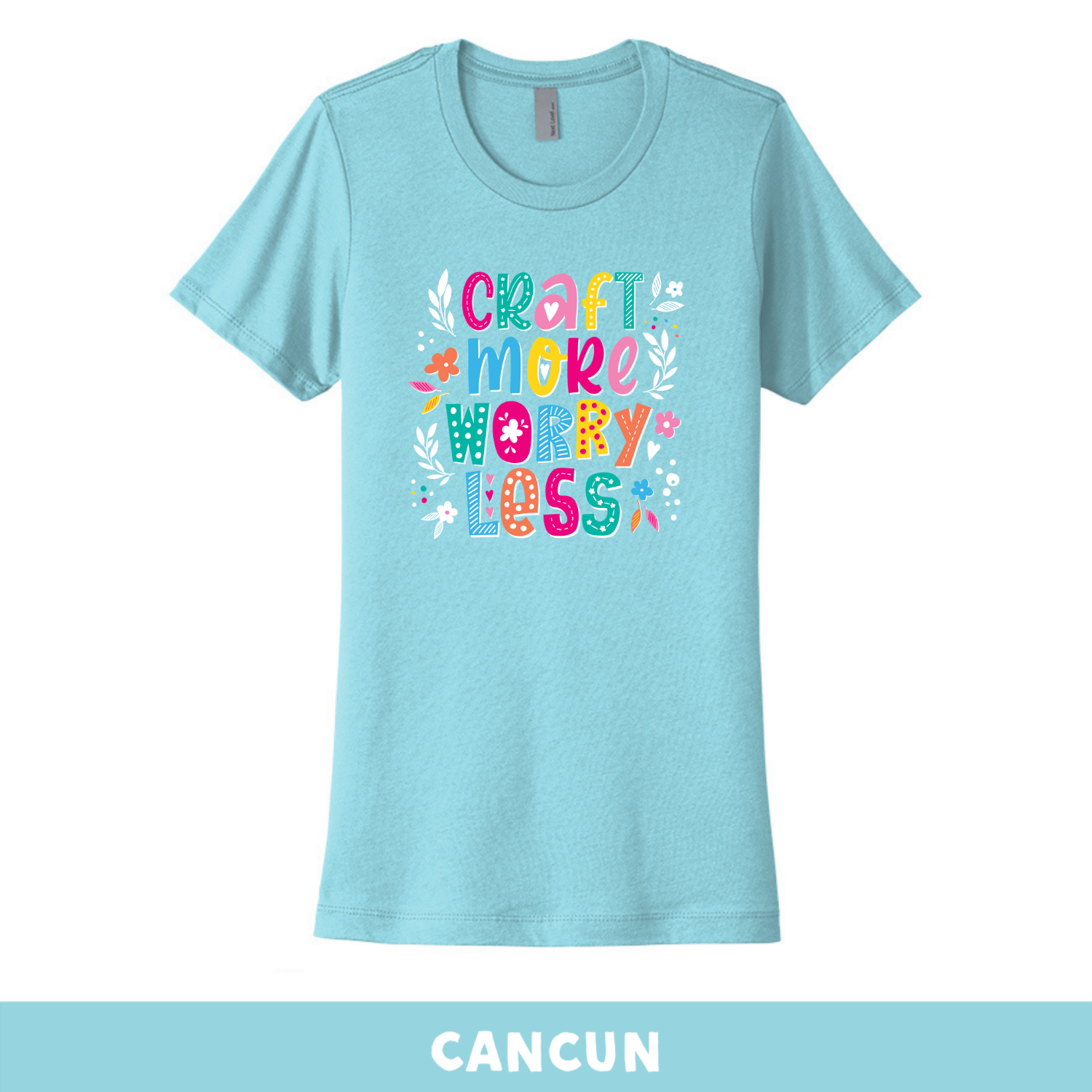 Cancun - Crew Neck Boyfriend Tee - Craft More Worry Less