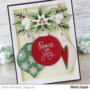 6x6 Layout Swap - Pretty Pink Posh - Christmas Stamps