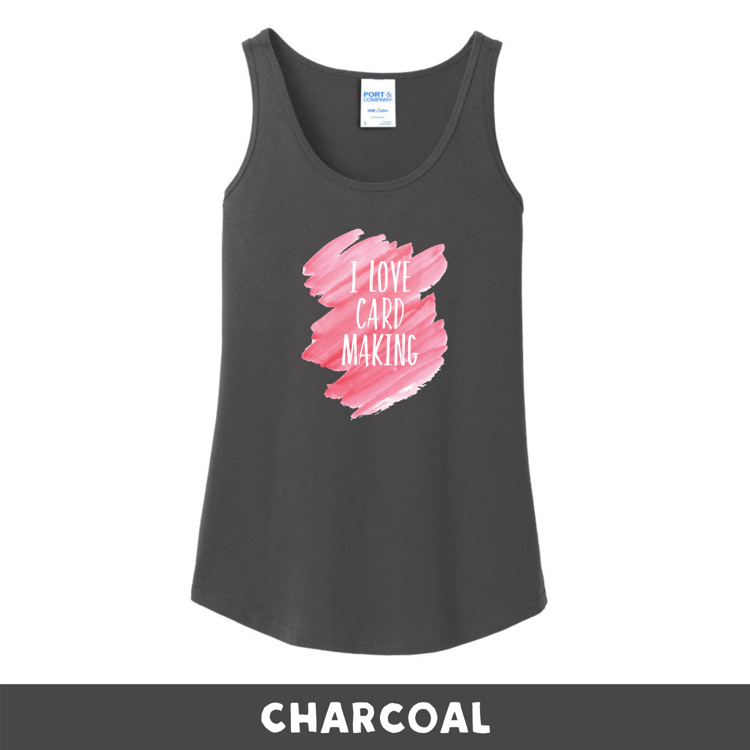 Charcoal - Woman's Cut Tank Top - I Love Cardmaking