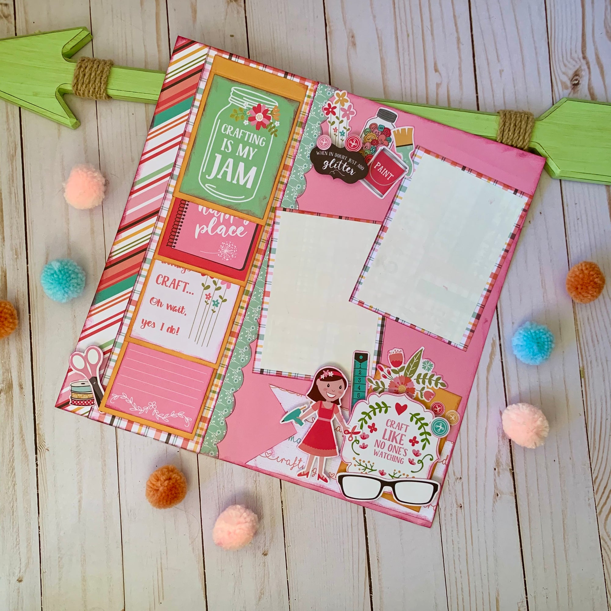 CutterPillar/KLM Crafts Scrapbook Layout Project Kit
