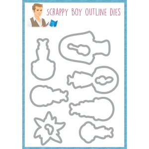 Outline Dies-  Can't Stop Singing - Scrappy Boy Stamps - Pre Order