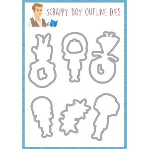 Outline Dies-  Climb Every Mountain - Scrappy Boy Stamps - Pre Order