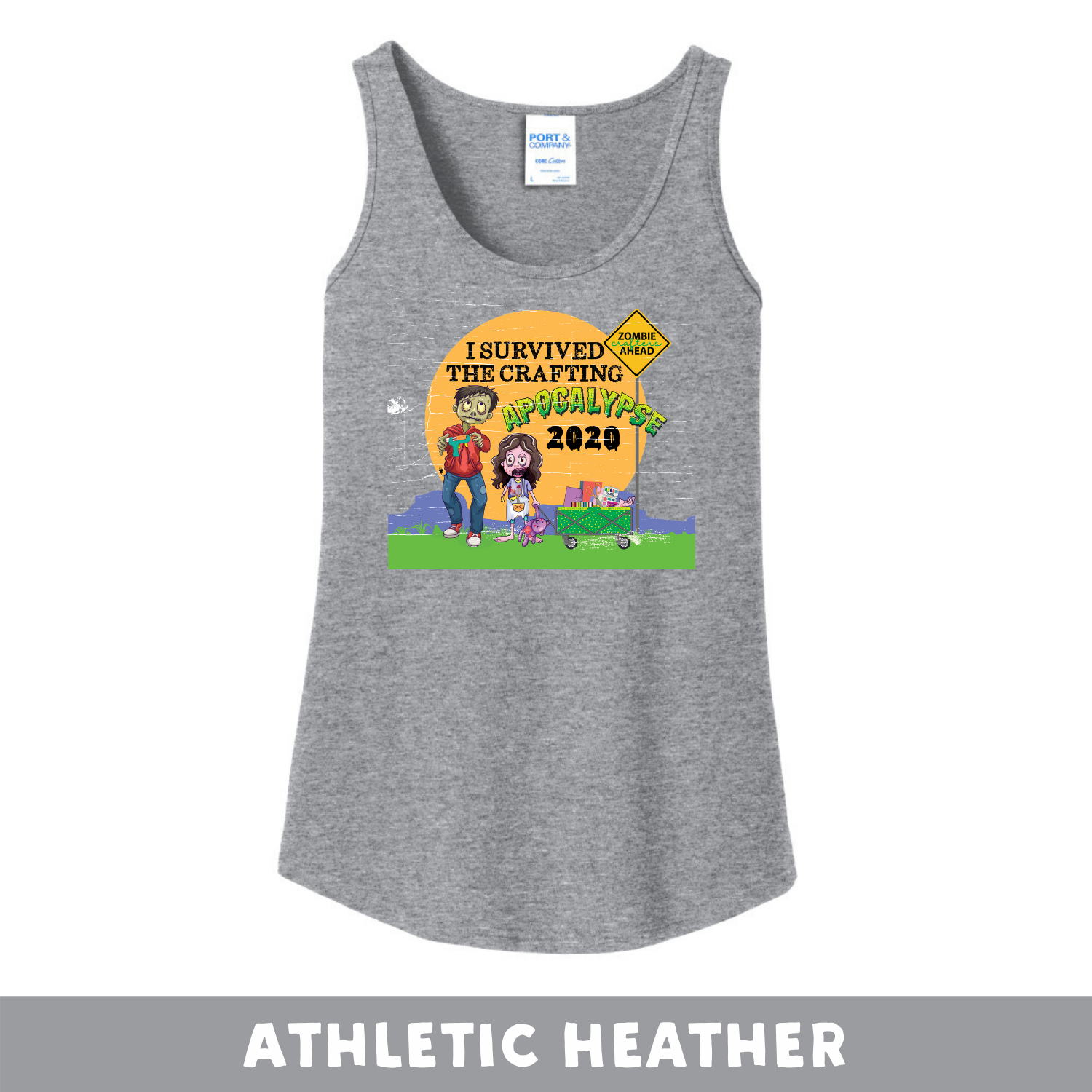 Athletic Heather -  Woman's Cut Tank Top - I Survived The 2020 Crafting Apocalypse