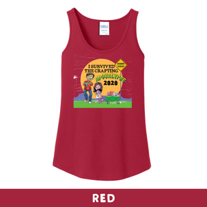 Red -  Woman's Cut Tank Top - I Survived The 2020 Crafting Apocalypse