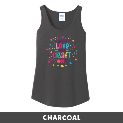 Charcoal - Woman's Cut Tank Top - Spread Love and Craft On