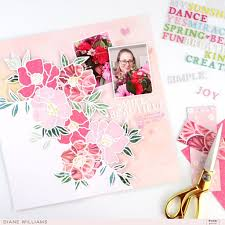 12x12 Layout Swap - Pink Paislee - And Many More Kit - For Card Makers