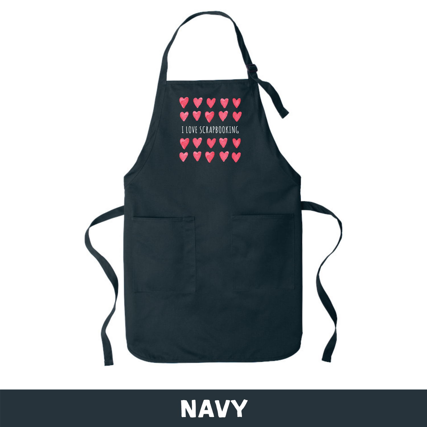 Navy - Apron - I Love Scrapbooking