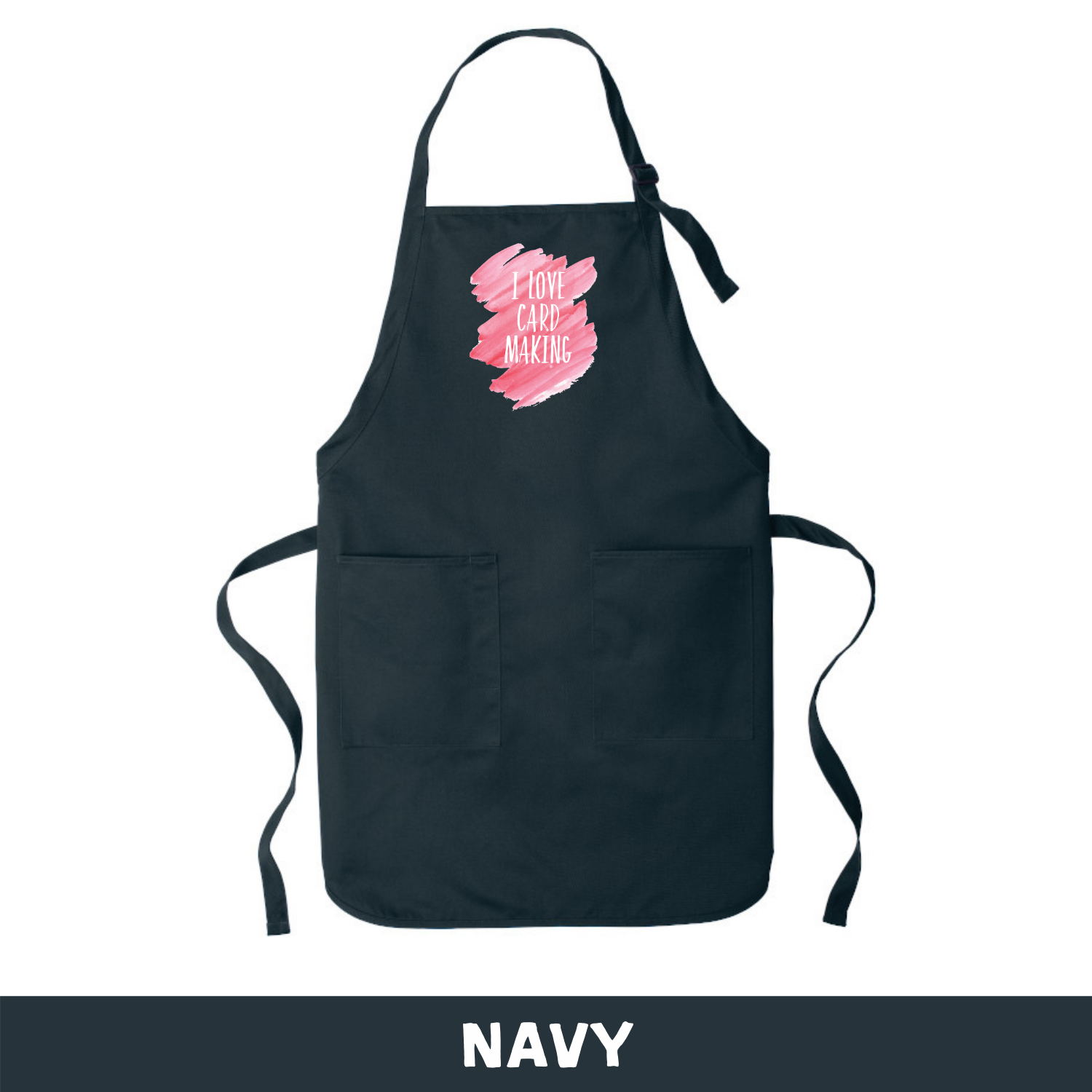 Navy - Apron - I Love Cardmaking