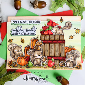 Slimline Card Swap - 20 Slimline Cards - Honey Bee Stamps - Nuts About You Kit