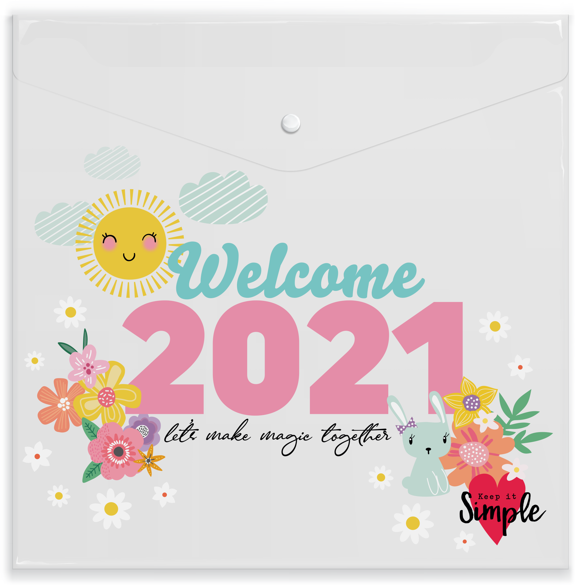 Welcome 2021 Full Size Paper Keeper