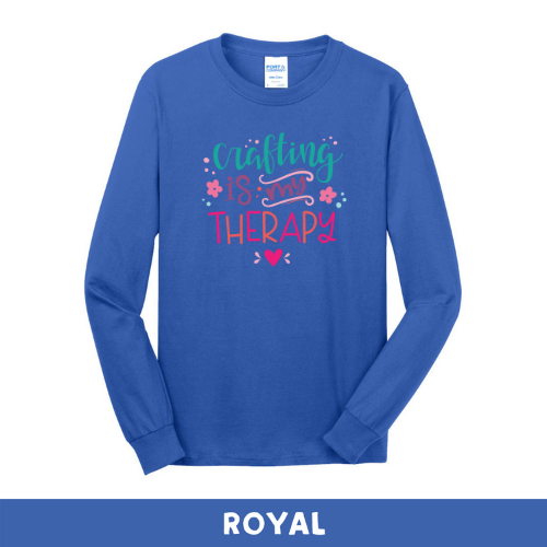Royal - Long Sleeve Unisex T-Shirt - Crafting Is My Therapy