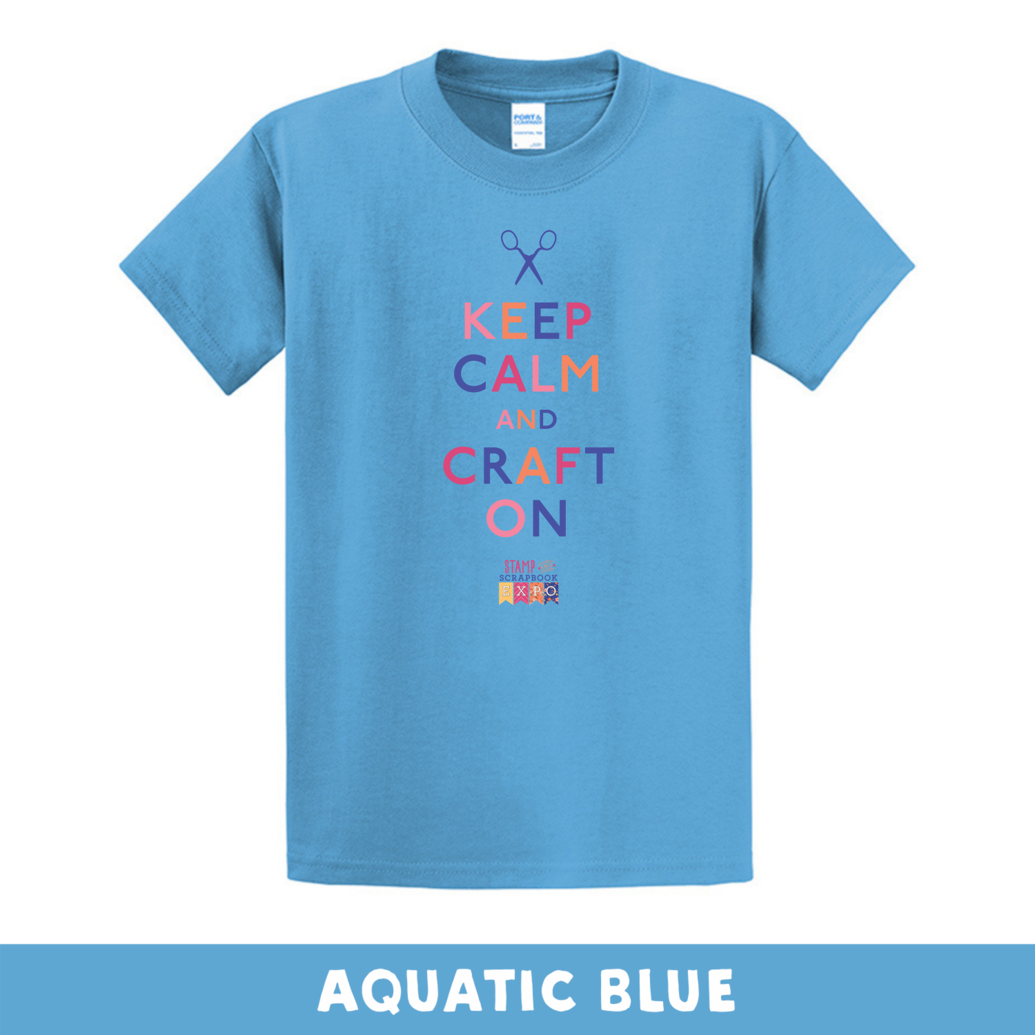 Aquatic Blue - Crew Neck Unisex T-Shirt - Keep Calm & Craft On