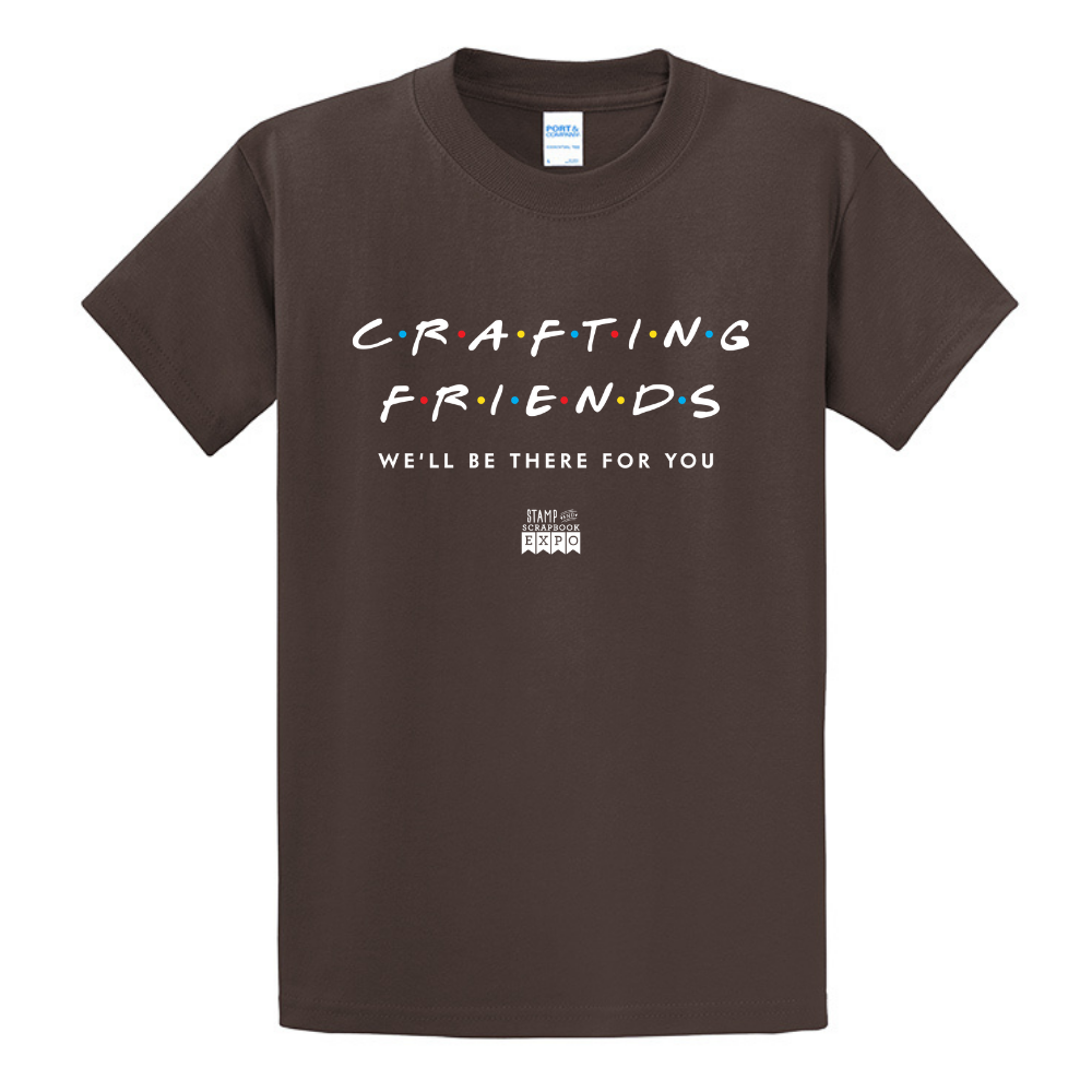 Brown - Crew Neck Unisex T-Shirt - Crafting Friends