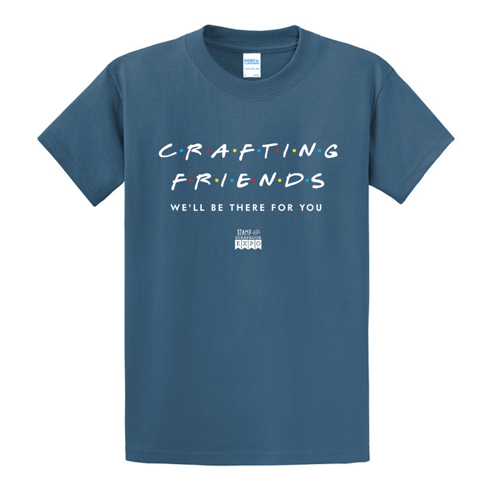 Colonial Blue - Crew Neck Unisex T-Shirt - Crafting Friends