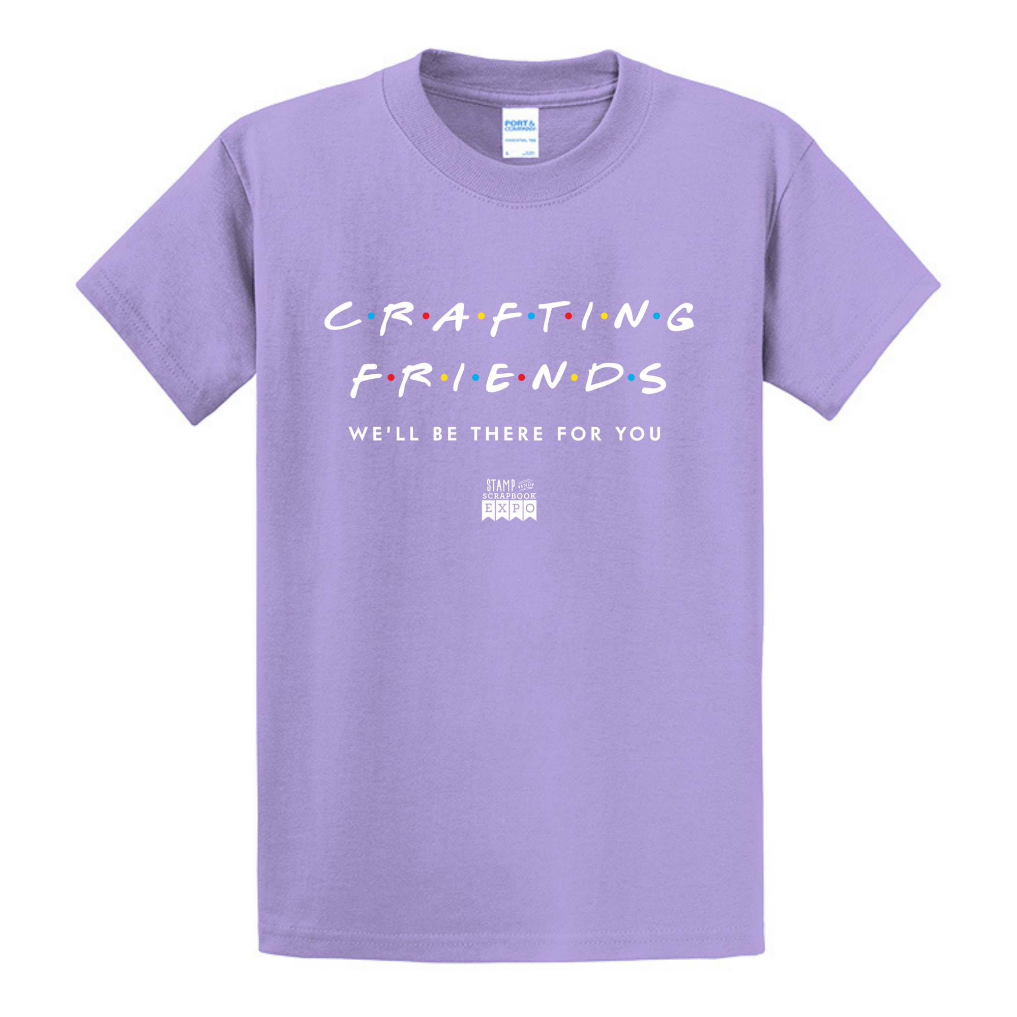 Lavender - Crew Neck Unisex T-Shirt - Crafting Friends